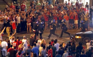 9 of 15 arrested in clash after Arizona Wildcats' loss are UA students