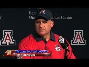 Watch: RichRod on bad snaps, defense, Randall, Scooby