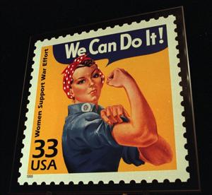 "1943: ""Rosie the Riveter"""