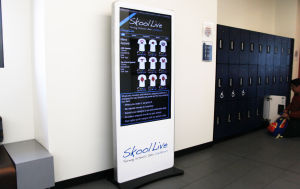 Schools open halls to electronic billboards