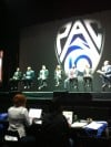 Pac-10 media day stage