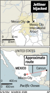 Fanatic held in hijacking of jetliner in Mexico