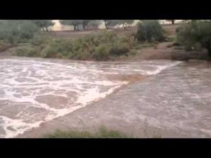 Santa Cruz River flows through downtown Tucson