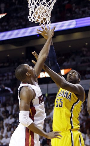 NBA playoffs: Pacers 97, Heat 93: Indiana's defense gets even with Heat
