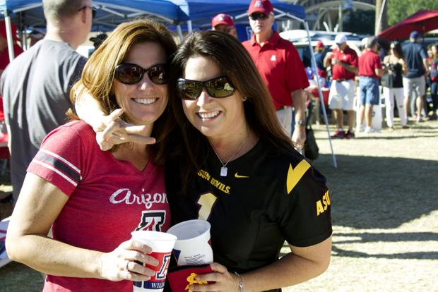 Photos: Families, friends divided by UA-ASU rivalry