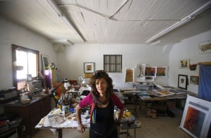 Drab walls hide lively cooperative for artists