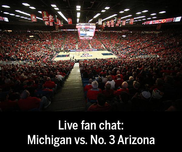 Fan chat transcript: No. 3 Arizona vs. Michigan basketball game