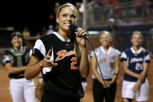 Former UA athlete Jennie Finch shares baby pics with People
