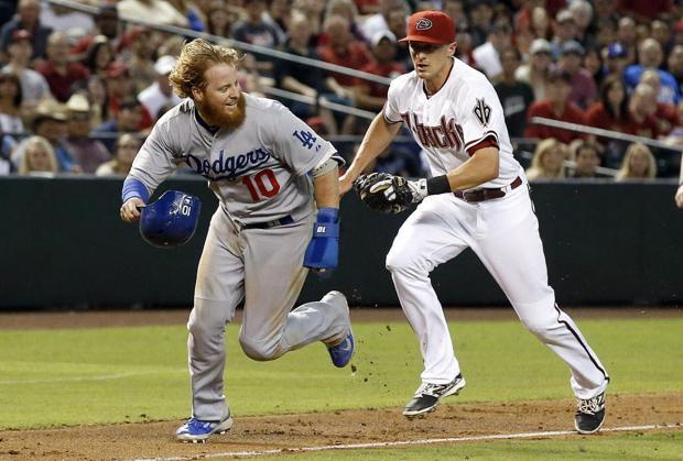 D-backs erase deficit, beat Dodgers 10-6