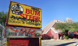Eclectic Bum Steer property goes to auction