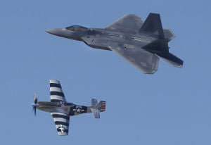 Historic 'warbirds,' new fighters train at D-M