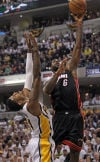 NBA Heat 114, Pacers 96 James takes Pacers down