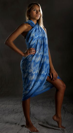 Scarves pull double duty as swimsuit cover-ups