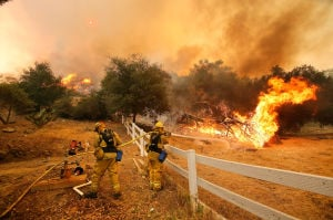 Photos: Camarillo fire in California carves path to sea