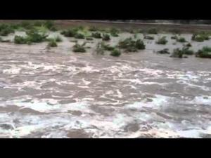 Rillito River flowing once again