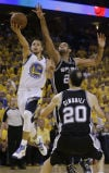 NBA Playoffs Warriors 97, Spurs 87, OT Mom's words spark Curry