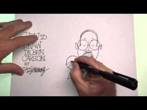 How to draw Dr. Ben Carson