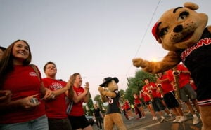 UA pep rally gets ready to bear down