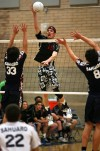 HIGH SCHOOL BOYS VOLLEYBALL Leaping, shouting, Jenks fires up Lions