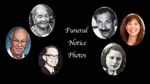 In memoriam: Funeral notice photos, April 1-25, 2017