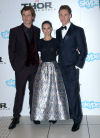 Chris Hemsworth, Natalie Portman and Tom Hiddleston