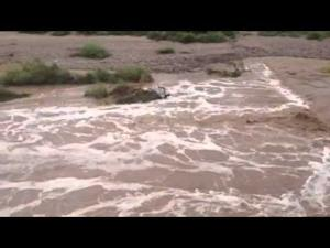 Santa Cruz River flows through 6th Street bridge