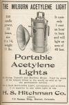 1913 ad for acetylene light
