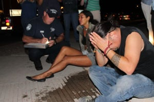 Photos: Protesters interfere with TPD traffic stop