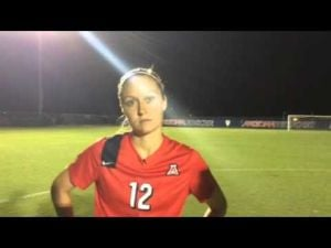 Mykaylin Rosenquist interview after UA soccer win, Sept. 12, 2014