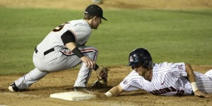 Back-to-back doubles, steely efforts in relief help UA win opener