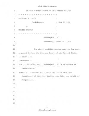 Justices seem OK with key SB 1070 part