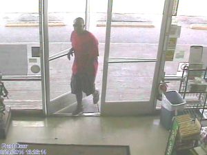 Man robs store with pink-and-black gun