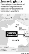 'Bigfoot' hardly describes dinos that left their tracks in France