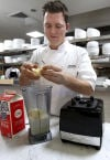Chef Ryan Clark making tres leche ice cream