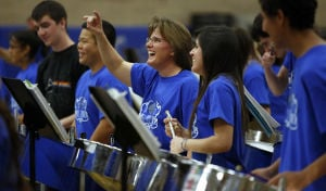 Steel bands hit right note at combined show