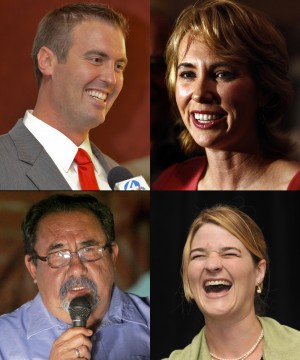 Incumbents Giffords, Grijalva leading