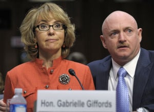 Photos: Giffords asks Senate to act on gun control