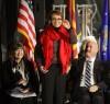 Rep. Gabrielle Giffords attends UA vigil