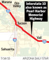Interstate 10 also known as Pearl Harbor Memorial Highway