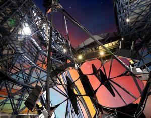 Giant telescope begins construction
