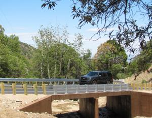 Two new bridges completed on Madera Canyon road