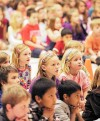 For kids, peace message hits home