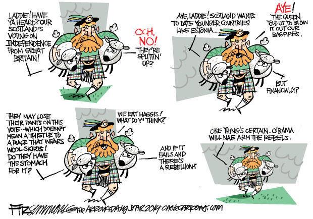 Daily Fitz Cartoon: Scotland
