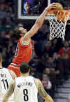 NBA Another big night for Noah as Bulls win
