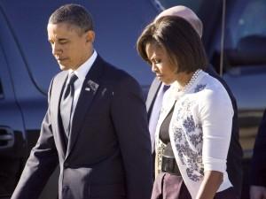 President Obama arrives at UMC