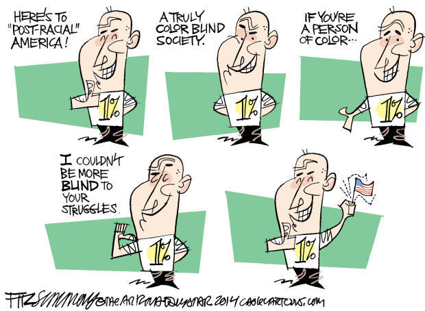 Daily Fitz Cartoon: Color blind nation