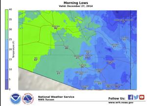 Freezing temperatures expected across Tucson