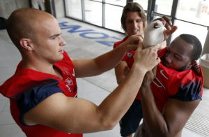 UA football: Time for pads, popsicles as camp starts