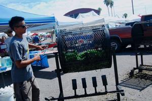 Autumn in Tucson: Green chile roasting