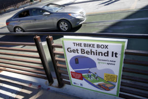 Downtown bike boxes clarified